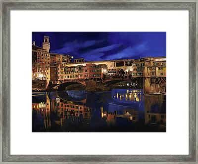 Notturno Fiorentino Framed Print by Guido Borelli