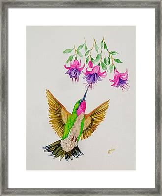 Framed Print featuring the painting Nourishment  by Katherine Young-Beck