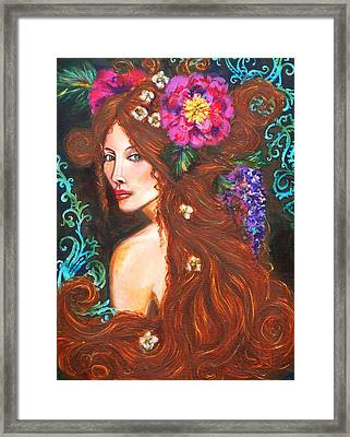 Nouveau Beauty Framed Print by Kimberly Van Rossum
