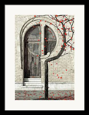 Doorway Digital Art Framed Prints