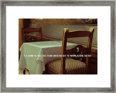 Nouvelle Quote Framed Print by JAMART Photography