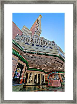 Classic Cinema - Fremont Theater, San Luis Obispo Framed Print by Darin Volpe