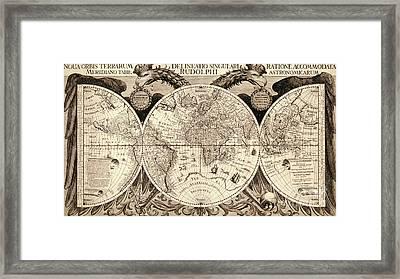 Nova Orbis Terrarum Framed Print