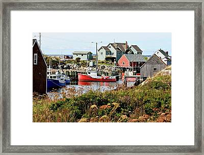 Nova Scotia Fishing Community Framed Print by Jerry Battle