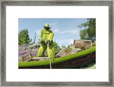 Nova Scotia's Entry The Lobster Fisherman. Framed Print