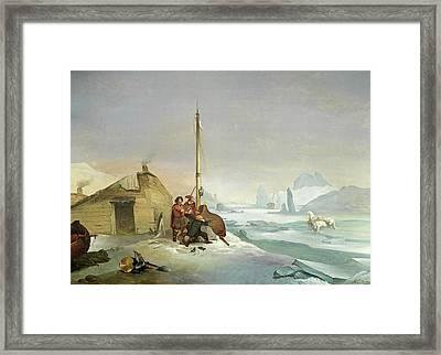 Nova Zembla Coast Framed Print by Francois-Auguste Biard