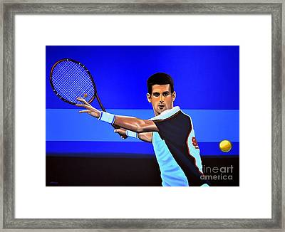 Novak Djokovic Framed Print by Paul Meijering