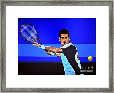 Novak Djokovic Framed Print by Paul Meijering