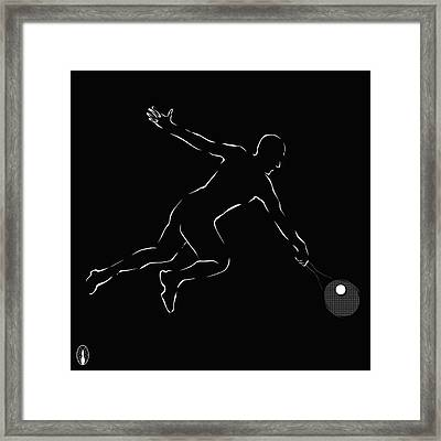 Novak Djokovic Framed Print by Robert De Monos