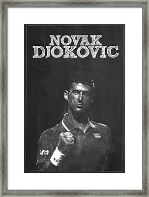Novak Djokovic Framed Print by Semih Yurdabak