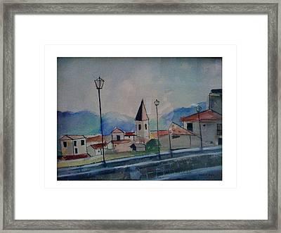 Novara Revisited Framed Print by Angela Puglisi