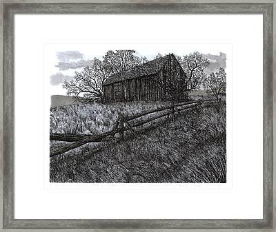 November At The Farm Framed Print by Jonathan Baldock