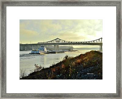 November Barge Framed Print