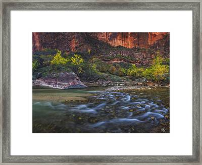 November Canyon Framed Print by Peter Coskun