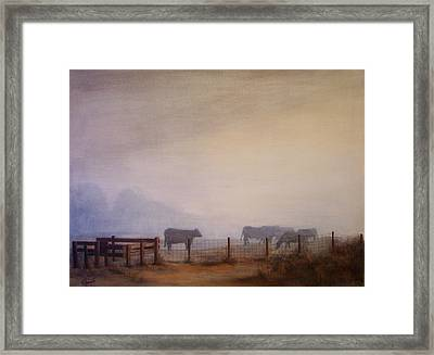 November Dawn Framed Print by Victoria Heryet