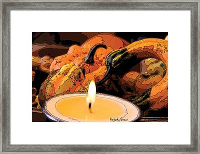 November Eve Framed Print