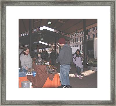 November Farmers Market Lowertown Framed Print by Janis Beauchamp