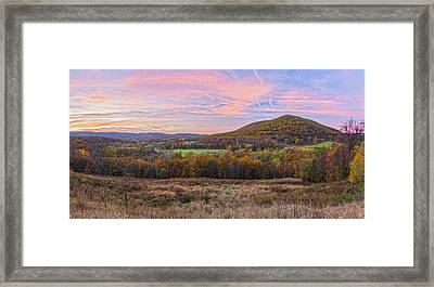 November Glowing Sky Framed Print
