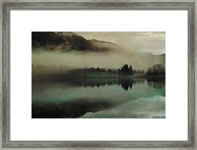 November Lake Framed Print