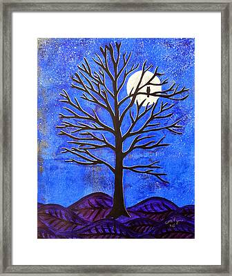 November Moon Framed Print by Michelle Vyn