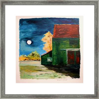 Framed Print featuring the painting November Moon Rising by John Williams