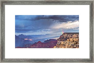 November Rain - Grand Canyon National Park Photograph Framed Print by Duane Miller