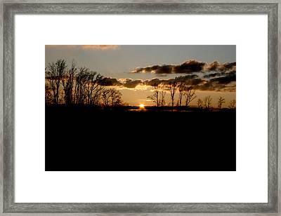 November Sky Framed Print by Alexandra Harrell