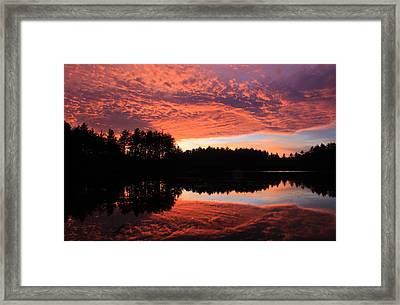 November Sky Framed Print by John Burk