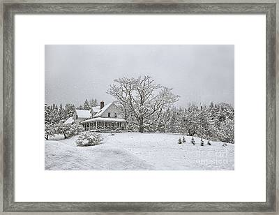 November Snow Framed Print by Susan Garver