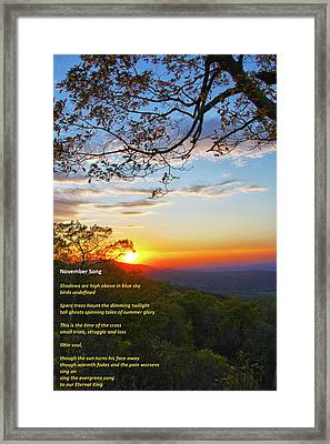 Framed Print featuring the photograph November Song by Mitch Cat