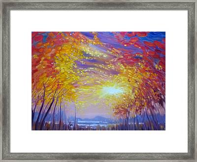 November Stirs... Framed Print by Gill Bustamante