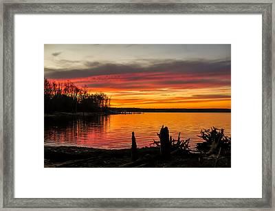 November Sunset Manasquan Reservoir Nj Framed Print