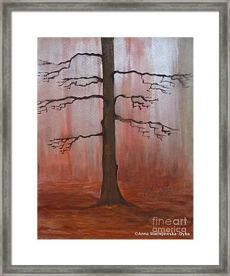 November Tree Framed Print