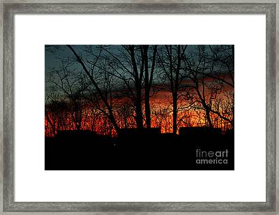 November Twilight Framed Print