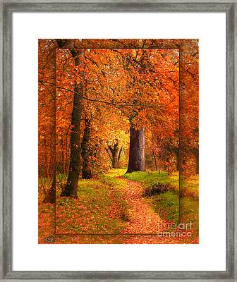 November Wood Framed Print