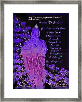 Novena To St. Jude Framed Print