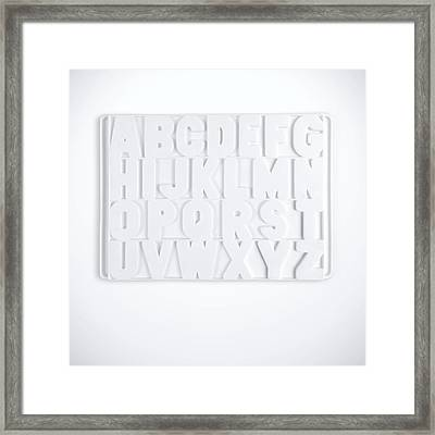 Now I Know My Abcs Framed Print by Scott Norris