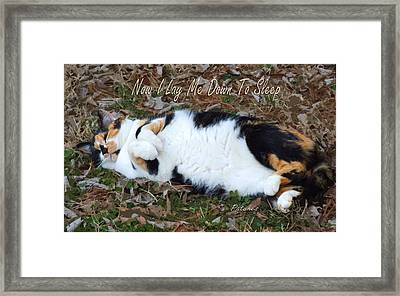 Now I Lay Me Down To Sleep Framed Print