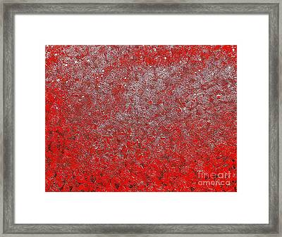 Now It's Red Framed Print by Rachel Hannah