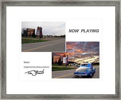 Now Playing  Sample Framed Print by Tom Straub