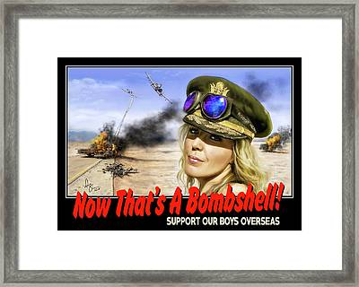 Now Thats A Bombshell Framed Print by Don Olea