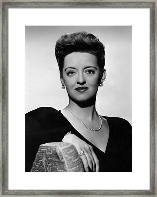 Now, Voyager, Bette Davis, 1942 Framed Print by Everett