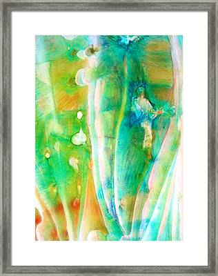 Now We See Through A Glass Darkly  Cor. Framed Print