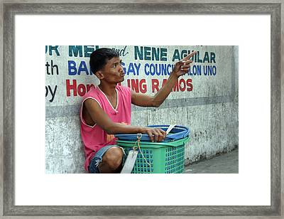 Now You Must Want A Basket Framed Print by Jez C Self