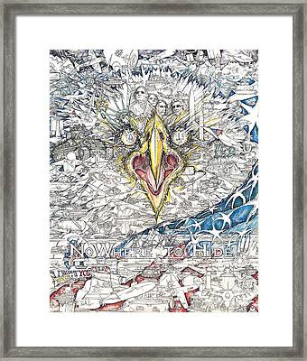 Nowhere To Hide Framed Print