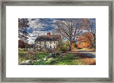 Noyes House In Autumn Framed Print