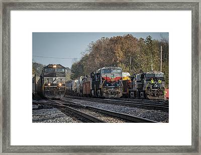 Ns 8101 Heritage Unit Central Of Georgia At Princeton In Framed Print by Jim Pearson