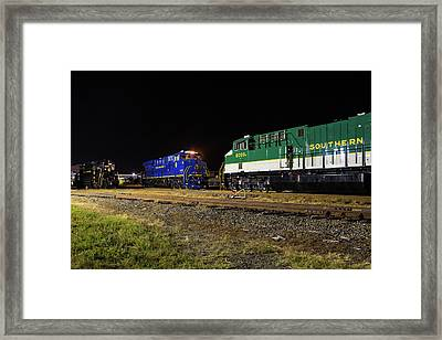 Ns Heritage Locomotives Family Photographs 8103 Night 12 Framed Print
