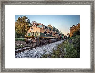 Ns Heritage Reading Lines Heritage Unit At Sullivan In Framed Print by Jim Pearson