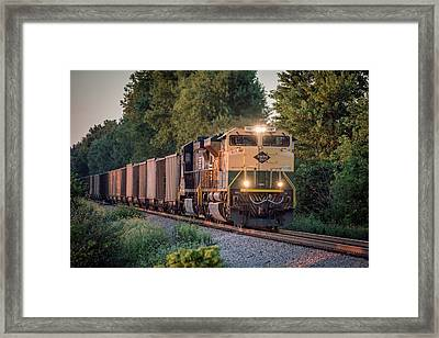 Ns Heritage Reading Lines Southbound At Sullivan In Framed Print by Jim Pearson